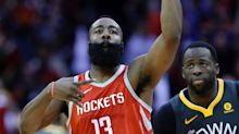James Harden's step-back 3 is clincher as Rockets-Warriors continues to heat up
