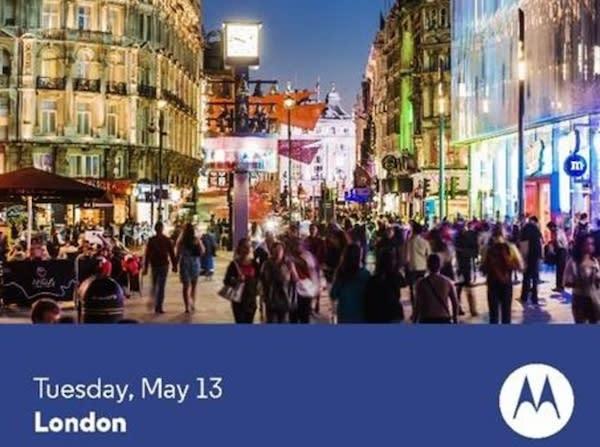 Motorola estrenará nuevo smartphone el 13 de mayo