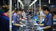 China's factory inflation slows as manufacturing stumbles; food prices soar