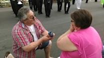 Mark's wedding proposal to Tammy at Apple Blossom