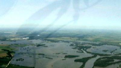 KETV Gets Aerial View Of Missouri River Flooding