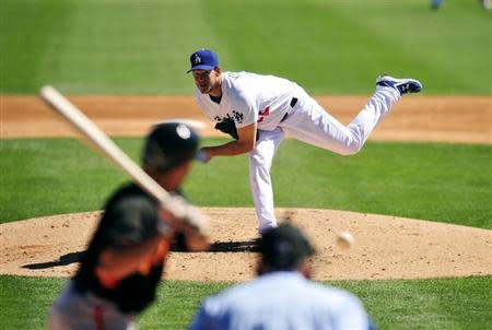 MLB: Spring Training-San Francisco Giants at Los Angeles Dodgers