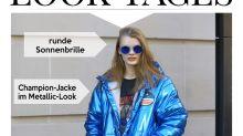 Look des Tages: Kristina Grikaite sorgt für Pisten-Glamour im Metallic-Look