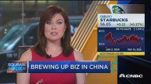 Starbucks bets big on China