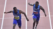 The Latest: Coleman wins gold in men's 100 after dodging ban
