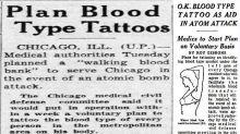 El plan estadounidense para tatuar a los ciudadanos su grupo sanguíneo de cara a un posible desastre nuclear