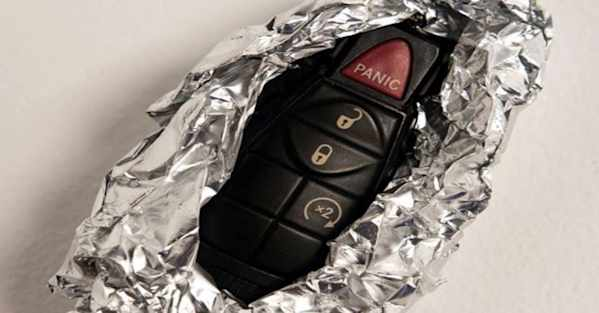 Why You Should Wrap Your Key Fob in Aluminum Foil