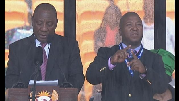 Nelson Mandela memorial signer talks