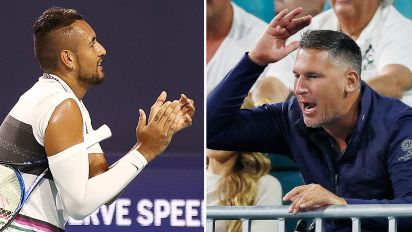 The bizarre sledge to start fan's war with Kyrgios