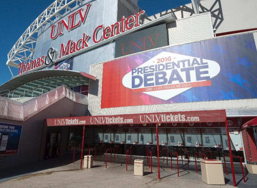 The 90-minute debate at the University of Las Vegas, Nevada offers Republican presidential nominee Donald Trump what may be his last chance to reverse a battered campaign (AFP Photo/Paul J. Richards)
