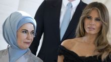 Melania Trump Smolders in Cocktail Dress Next to Hijab-Clad Emine Erdogan
