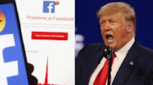 Trump hits out after length of 'insulting' Facebook ban revealed