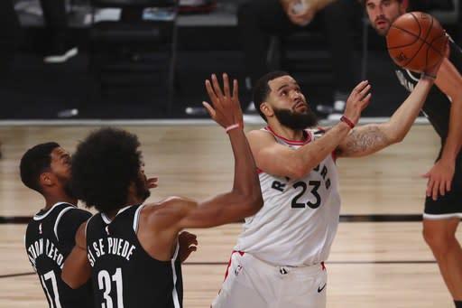 VanVleet leads red-hot Raptors to 134-110 triumph over Nets