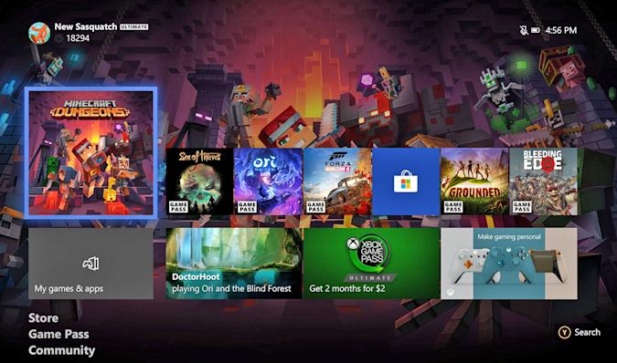 game purchase dashboard update