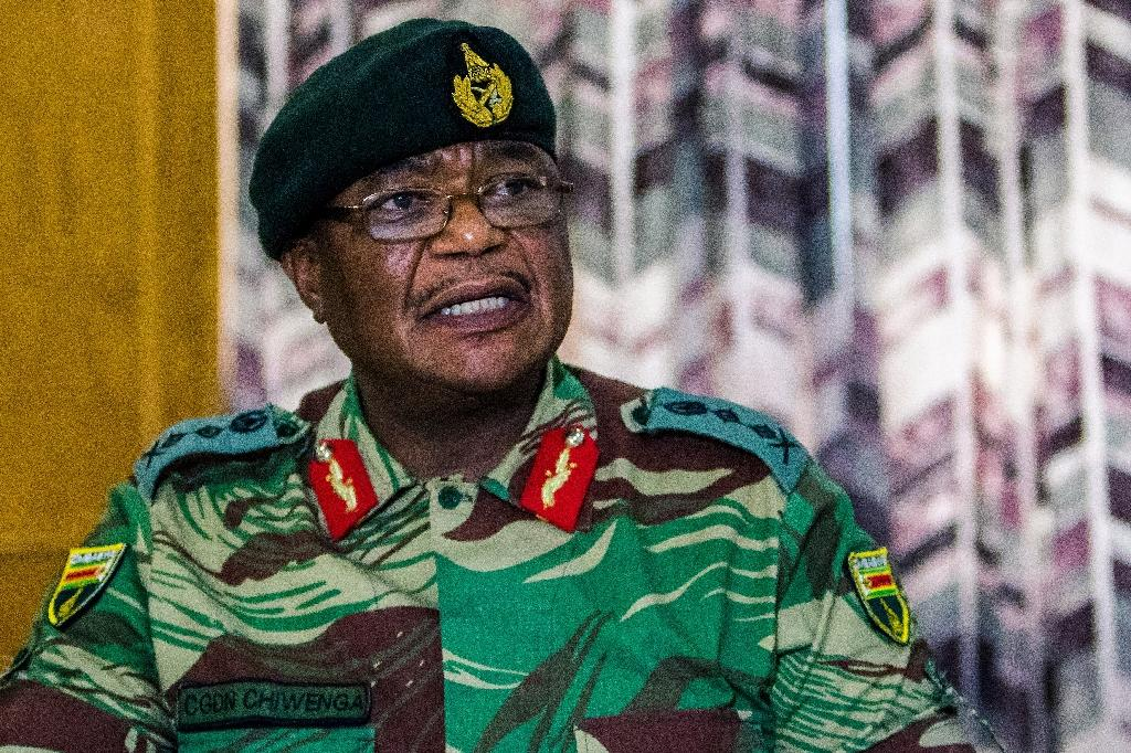 Armed forces chief General Constantino Chiwenga set the scene for the military takeover, bluntly warning Mugabe over the sacking of vice president and ally Emmerson Mnangagwa (AFP Photo/Jekesai NJIKIZANA)