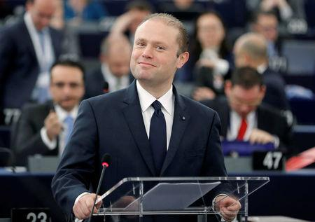 Malta's Prime Minister Muscat attends a debate on the priorities of the incoming Malta Presidency of the EU for the next six month at the European Parliament in Strasbourg