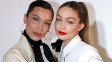 Bella Hadid Shows Matching 'Baby Bump' With Sister Gigi