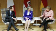 Darkness falls on May's Merkel-Macron meeting