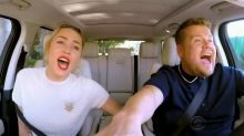 Miley Cyrus, Katy Perry, and others join James Corden for 'Christmas Carpool Karaoke'