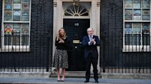 New parents Carrie Symonds and Boris Johnson lead nationwide clap for carers