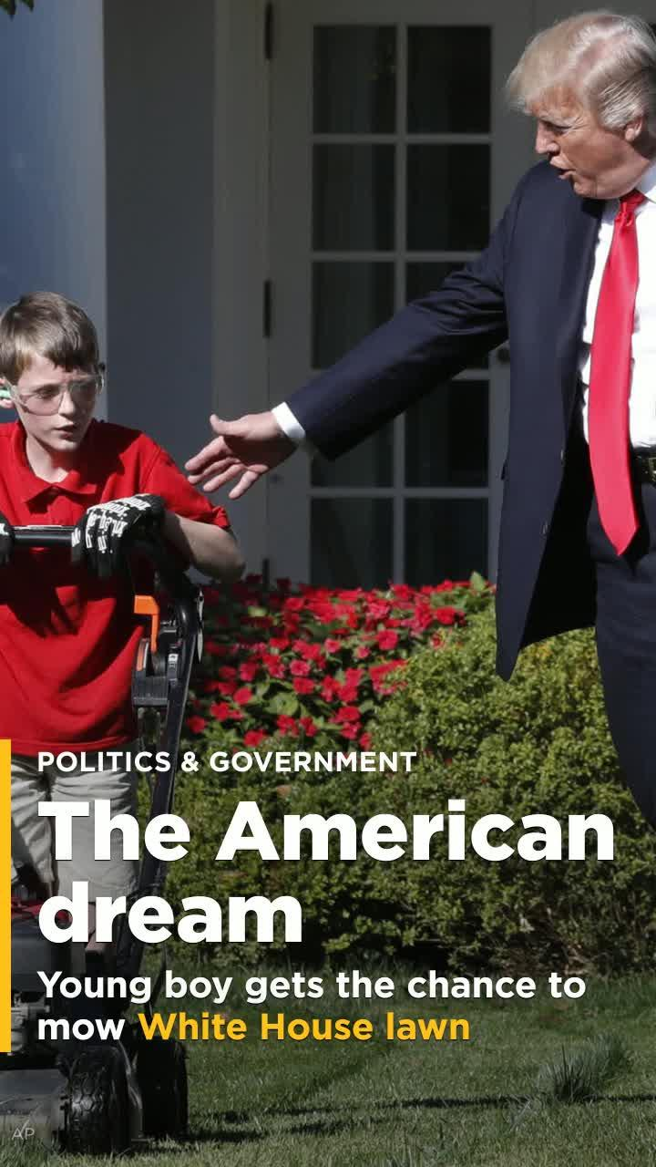 11 Year Old Who Offered To Mow Rose Garden Lawn Is Taken Up On Offer