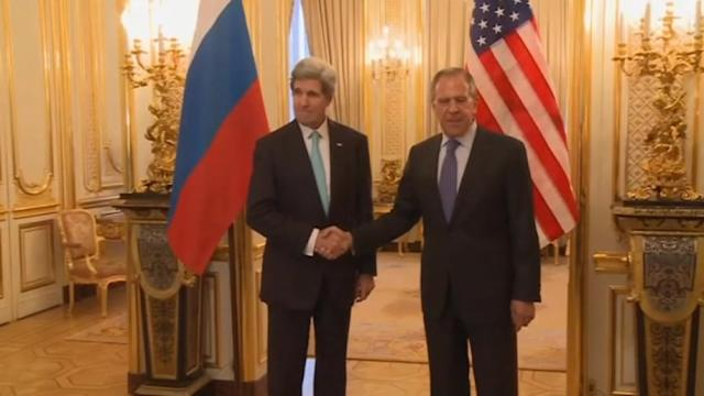 Kerry and Lavrov meet in Paris