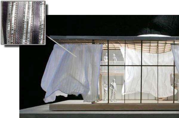Solar Soft House converts household curtains into household current