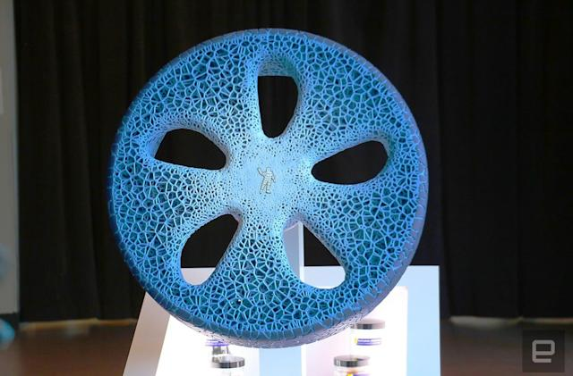 Michelin's 3D-printed tire is as stunning as it is futuristic