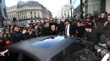 Parisian Paparazzi & Selfie Seekers Swarm Kim, Kanye & Kendall