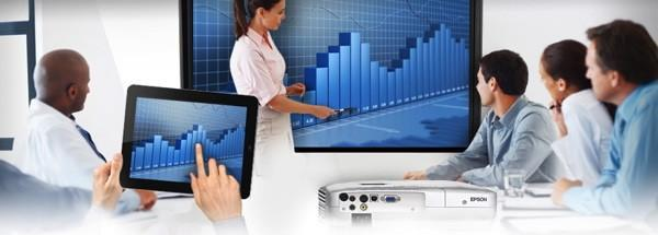 Epson's iProjection wireless projection app: wireless projection using an app