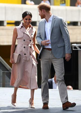 Britain's Meghan, the Duchess of Sussex, and Prince Harry, arrive at the Nelson Mandela Centenary Exhibition at the Southbank Centre's Queen Elizabeth Hall in central London, Britain, July 17, 2018. REUTERS/Hannah McKay