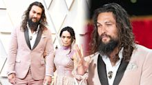 Twitter users go wild for the pink scrunchie Jason Momoa rocked at the Oscars