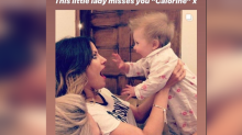 Caroline Flack's best friend Lou Teasdale shares heartbreaking photo of Love Island host holding her daughter