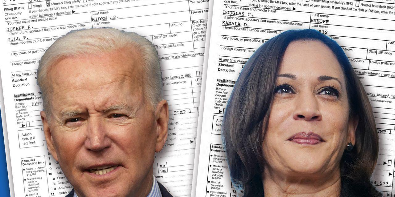 How much income tax will Biden and Harris pay under their proposed hikes?