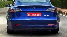 India-bound Tesla Model 3 spied on test