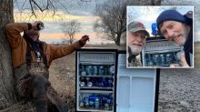 'Magic fridge' full of cold beer found in flooded field