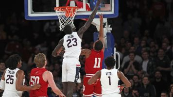 Hoosiers rebound from 1st loss of season to top UConn at MSG