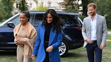 Doria Ragland reacts to Meghan and Harry's baby news