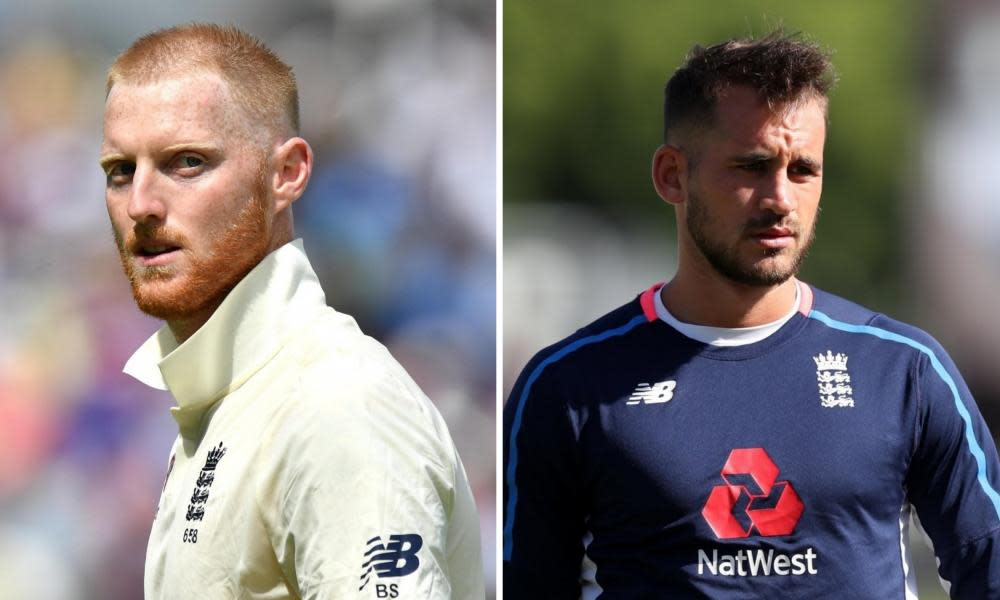 Ben Stokes (left) and Alex Hales have both apologised after receiving heavy fines from the ECB.