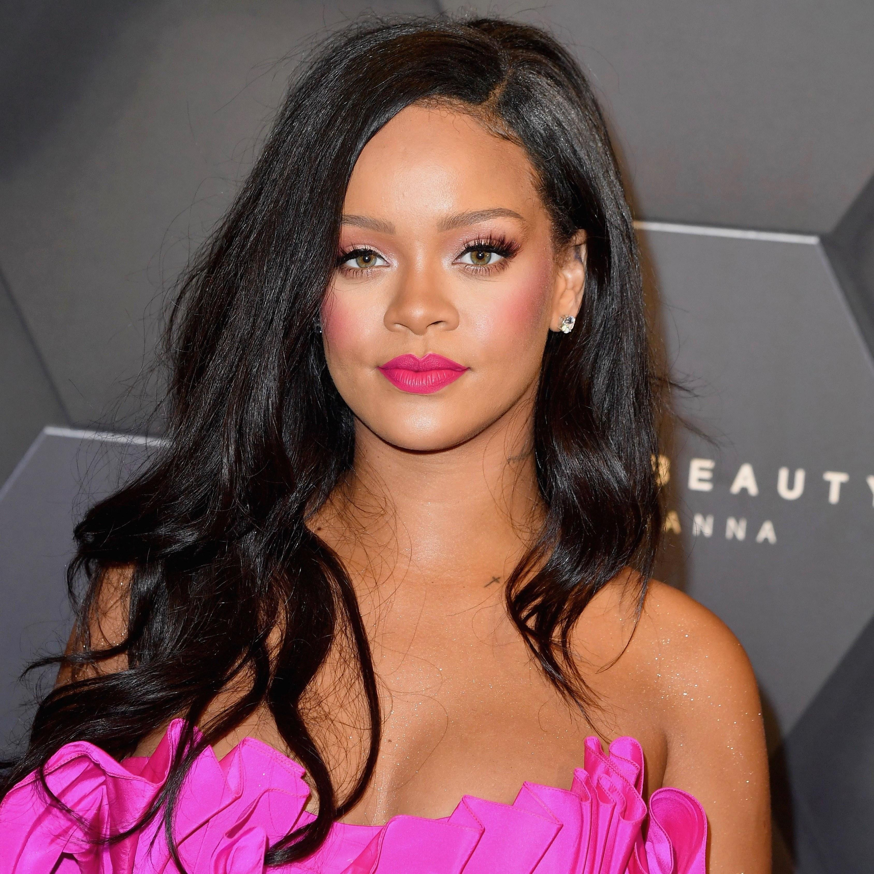 All Pink Everything: Rihanna Steps Out In All Pink Everything—and A Leg Reveal