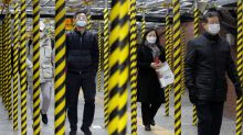 Coronavirus fears grip South Korean city; China reports drop in new infections