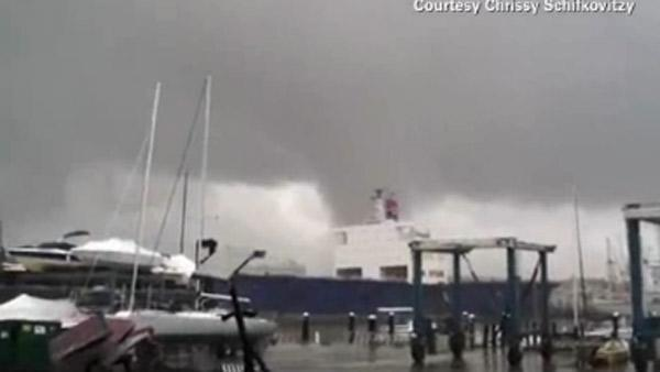 Funnel cloud in Baltimore caught on camera