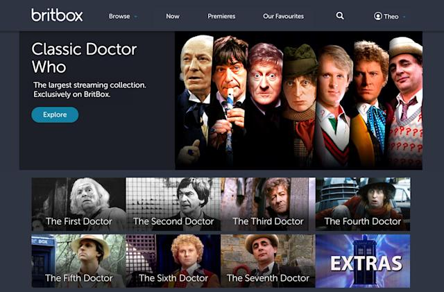 Four decades of 'Doctor Who' arrive on the BBC's BritBox