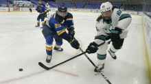Kyrou's goal lifts Blues to 5-4 comeback win over Sharks