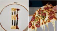 【有片】日本網民pizza超像真  「拉絲」原來係刺繡
