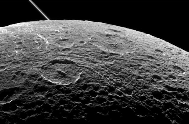 NASA releases gorgeous image of Saturn's moon Dione