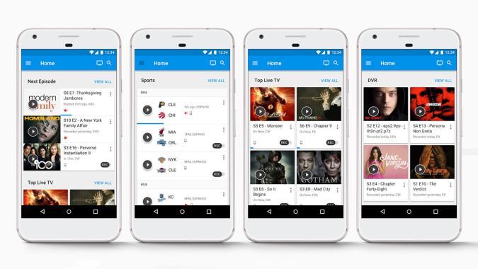 Google Fiber TV app recommends live shows