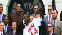 Raw: Obama, 'Big Papi' of Red Sox Take Selfie