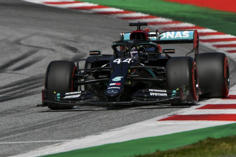 But only one Mercedes in the front row: Lewis Hamilton received a penalty afterwards and loses his second place on the starting grid for the Austria G