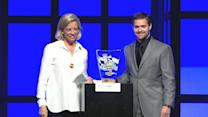 Stenhouse Jr. accepts Rookie of the Year award